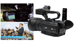 Image of Compact live streaming 4K camcorder with graphics overlay (GY-HM200ESB)