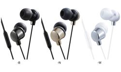 Image of Inner ear headphones with remote & microphone (HA-FR41-E)