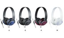 Image of Lightweight headphones with superior sound with remote and mic (HA-SR225-E)