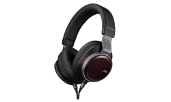 Image of High-Res compatible headphones with wood driver (HA-SHR01-E)